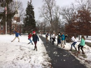 "A snowball fight that followed was ""a very civil fight,"" according to Mr. Syfu."