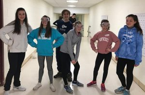 Middle School students study fitness data.