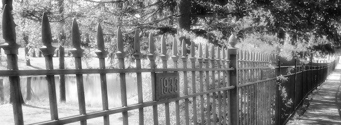 Campus fence pano infrared