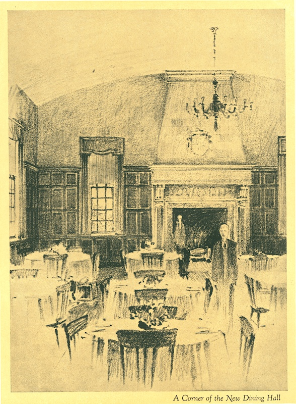 The interior of MacNaughton's Dining Hall, never constructed.