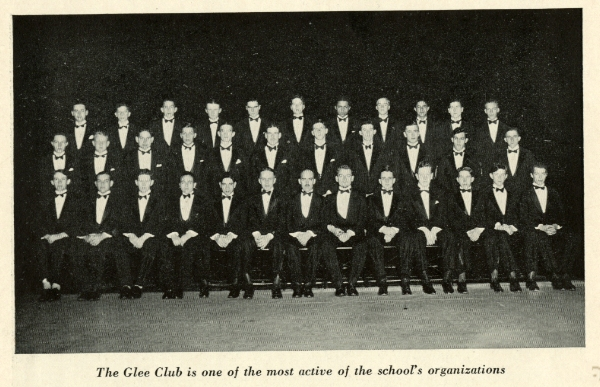 Conductor and English master Chuck Rouse is in the front row, center.