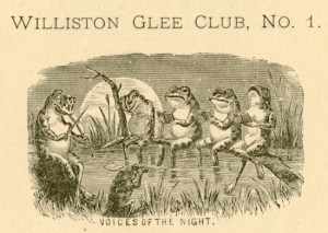 Cartoon from the 1878 Caldron, a senior class yearbook. (Click all images to enlarge.)