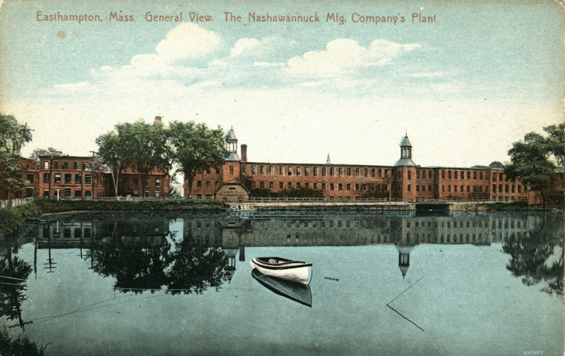 Postcard, ca. 1910. The image originated from the same photograph as a night view further down the page, with different coloring applied in the printing process.