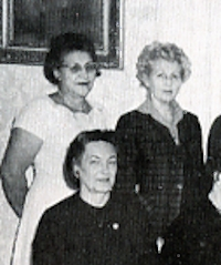 Dagmar Abkarian (left), with teacher Viola Hussey and housemother Katherine Weller. (If anyone has a better photo of Ms. Abkarian, please contact the Archives!)