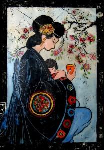 """Marianne Kehrli, """"Japonism."""" Collection of Holly Alderman."""