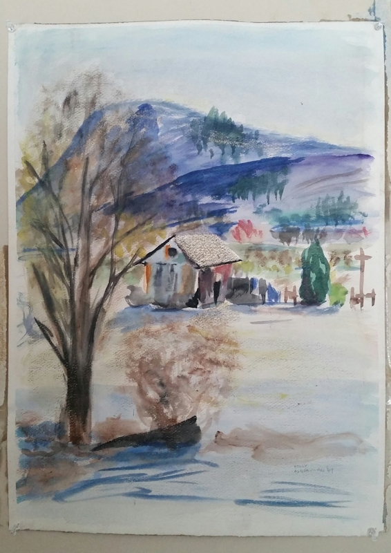 Holly Alderman, View from the Hathaway Art Studio. Collection of the Artist.