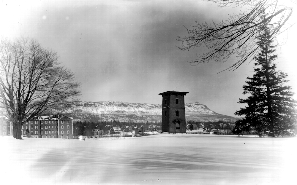 Another early view. The water tower was removed in 1929, to make way for the Recreation (Reed Campus) Center.