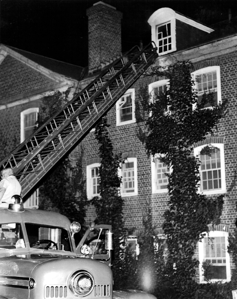 Not the event mentioned above, but another fire scare from the 1950s.