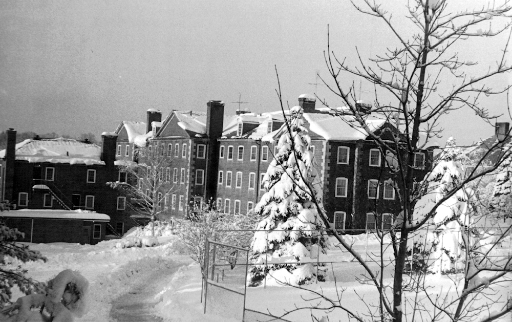 The east side of Ford in winter, ca. 1960.