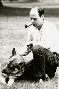 Andy Lapidus with his dog Radnik.