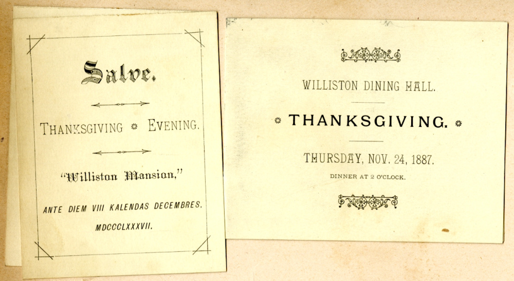 George B. Wardman scrapbook. Thanksgiving 1887.