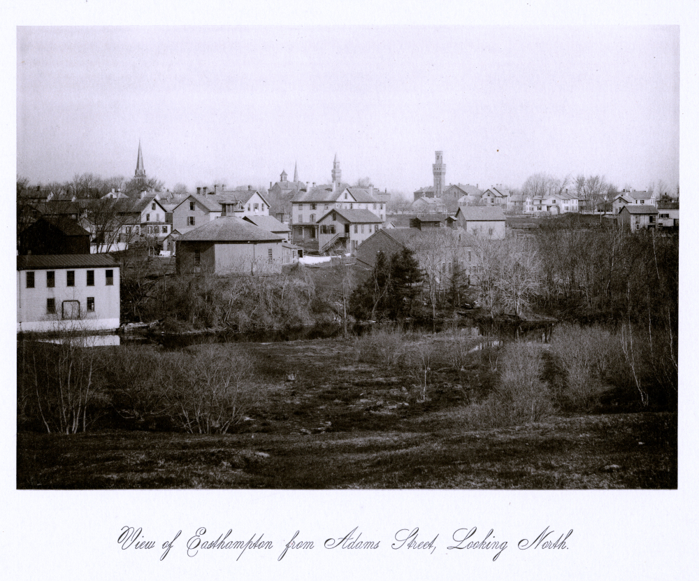 View of Easthampton from Adams Street, Looking North