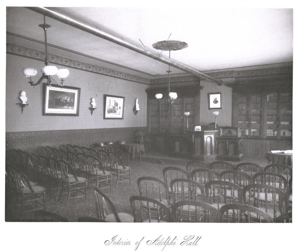 Interior of Adelphi Hall