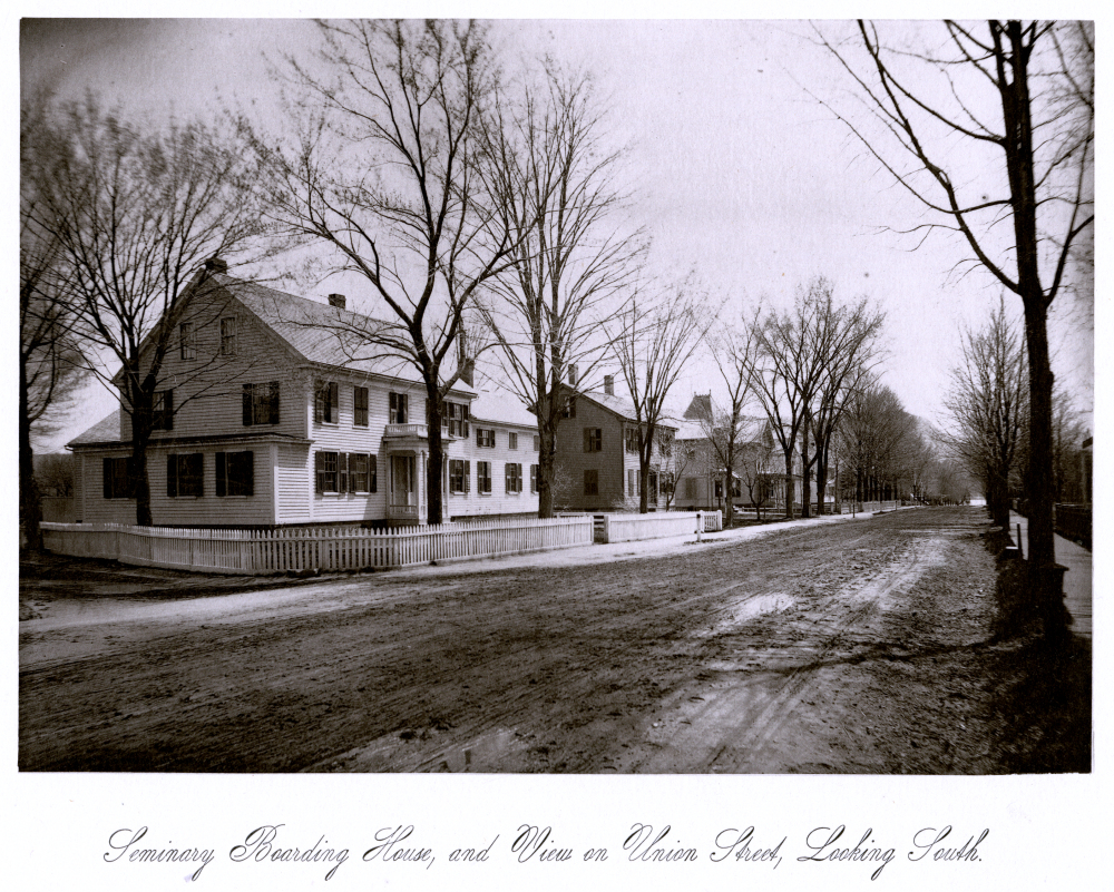 Seminary Boarding House, and View on Union Street, Looking South