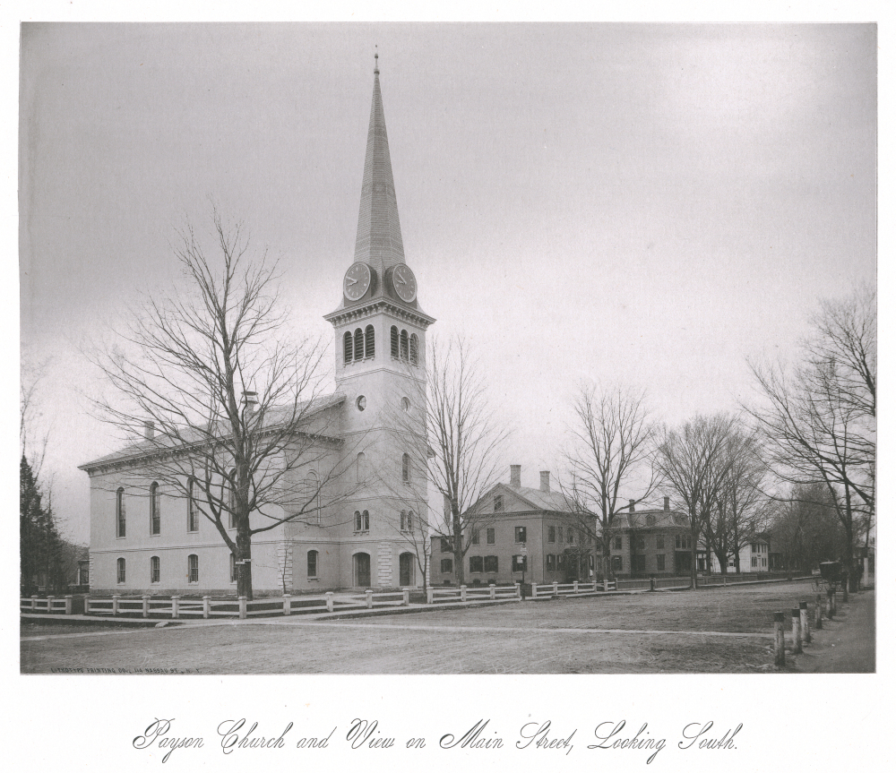 Payson Church and View on Main Street, Looking South