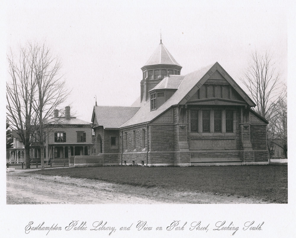 Easthampton Public Library, and View on Park Street, Looking South
