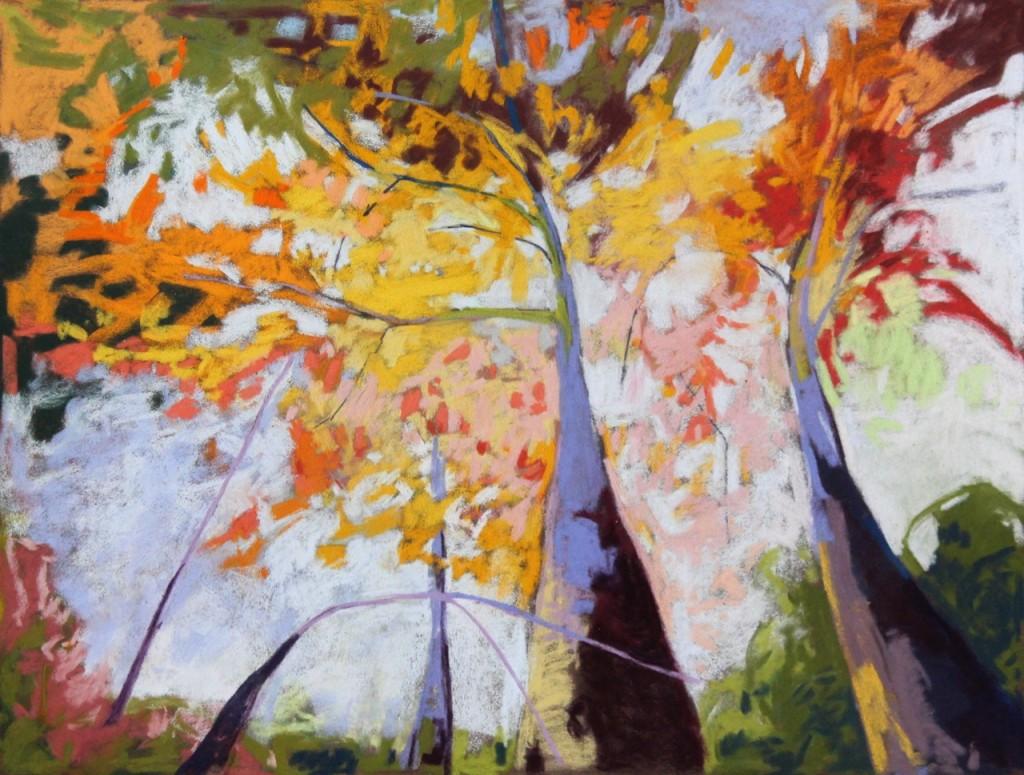 "Marlene Rye, ""The Ascent"", pastel on paper, 2014"