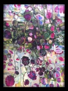 """Mwyar Duon"" (Blackberries)   Acrylic on Canvas. Rhys Davies"