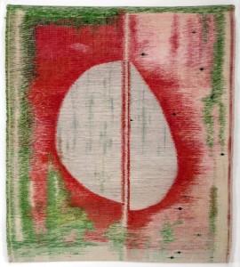 "Amanda Barrow POD, 1992 hand-woven cotton 46"" x 40"""
