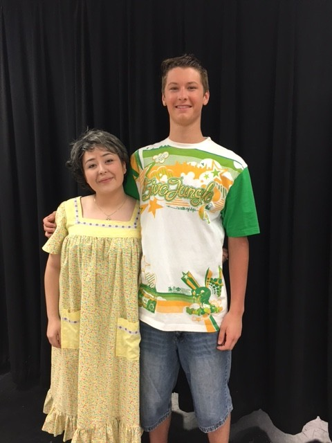 Hana Brown '16 and Calvin Frye '16 as Abuela Claudia and Sonny