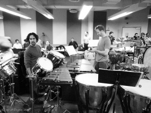 "Music Director, Orchestrator, and Conductor of the original Broadway production of ""In the Heights,"" Alex Lacamoire, gets ready for sitzprobe."