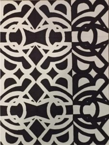 Students are creating compelling abstract black and white compositions.