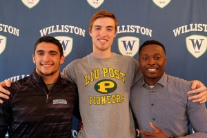 Mark Wilson, Kyle Doucette, and Michael Dereus all signed with Division I college sports programs.