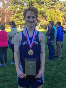 "Nick Hill '17 who won the NEPSAC All-Star meet and received the ""Alan Shaler"" Most Valuable Runner award"