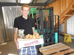 Billy Ashenden delivering our Fall Harvest to the Food Bank of Western Massachusetts.
