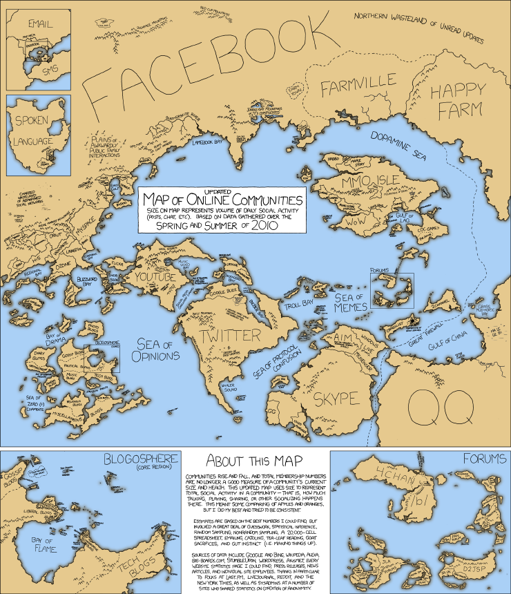 XKCD Online Communities V2.0