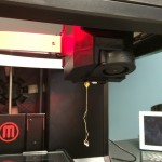 The sign that you've successfully loaded the filament