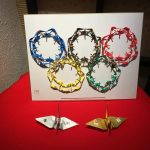 Olympic rings made of cranes!