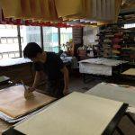 Washi paper being made