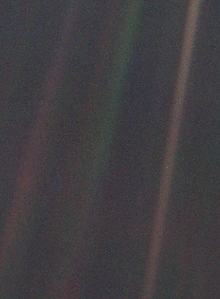 Earth as seen from 3.7 billion miles from Voyager 1