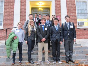 Members of Williston's Model UN team at a recent gathering