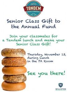 2014 Senior Class Gift Loren's flyer