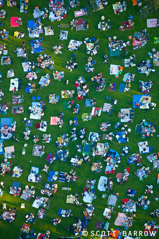 Tanglewood Nation.  A view of the lawn at Tanglewood just before a concert. Scott Barrow